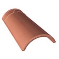 Faitière double 200x200mm non crantée terracotat mat