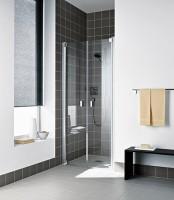 Porte de douche battante RA PTD 10020 1AR argent ROTH