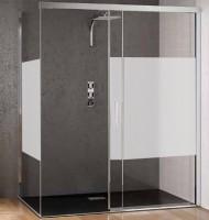 Paroi de douche KINESPACE porte coulissante angle chromé verre dépoli KINEDO