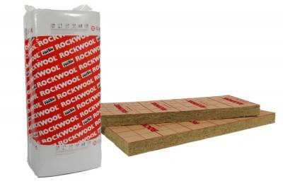 Panneau isolant laine de roche ROCKMUR KRAFT épaisseur 75mm 1.35x0.60m 8,1m²/paquet ROCKWOOL
