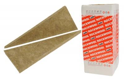 Laine de roche non revêtue DELTAROCK 202 épaisseur 60mm 1.35x0.60m 5,67m²/paquet ROCKWOOL