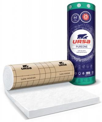 Panneau roulé laine de verre semi-rigide PUREONE 32 QP épaisseur 140mm 1.2x2.7m 3,24m²/rouleau URSA