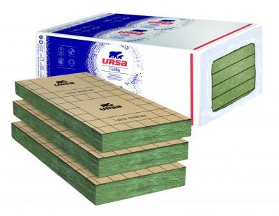 Panneaux de laine de verre TERRA PRK 38 revêtu kraft épaisseur 75mm 1350x600mm 8,10m²/paquet URSA