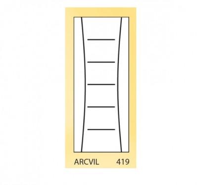 Bloc-porte Planidecor ARCVIL droite poussant feuillure 72 204x83cm