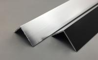 Cornière aluminium laquée noir RAL 9005 satiné 30x80 longueur 160