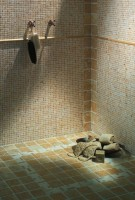 Mosaïque de pierre naturelle TRAVERTIN blanc/beige/marron 4x4cm 30x30cm ARTE DESIGN