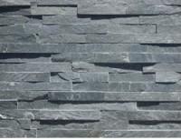Plaquette de parement ardoise sur résine noire 15x60cm épaisseur 10-30mm BREZINS
