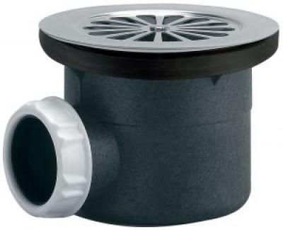Bonde de douche latérale plastique à visser ou à coller diamètre 90mm VALENTIN