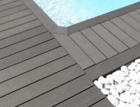 Lame de terrasse composite Elégance brun exotique structurée 23x138x4000mm