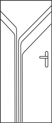 Bloc-porte alvéolaire gravé NIAGARA prépeinte huisserie créaconfort 88x57 rive droite PD1/2T gauche poussant 830x2040mm