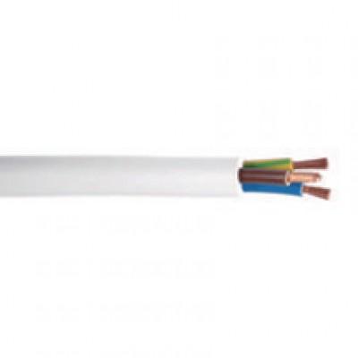 Câble souple blanc section 3 G 1,5 mm² couronne de 50m DAUMESNIL