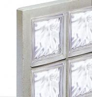 Panneau 2x3 briques de verre N°23 198 nuagée incolore 670x80mm VERRERIE LA ROCHERE