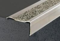Nez de marche B4-Q inox résine méthacrylate quartz gris 2.98m DINAC