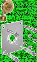 Plaque de fixation pour raccord à glissement monotrou 16-15x21mm ROBIFIX