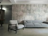 Carrelage GRAFFITI urban grigio réctifié décoré 30x60cm REFIN