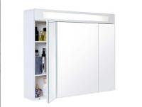 Armoire de toilette MIRAGE 3 portes mélaminé blanc 80cm DECOTEC