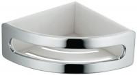 Porte-flacons d'angle ELEGANCE chromé blanc KEUCO