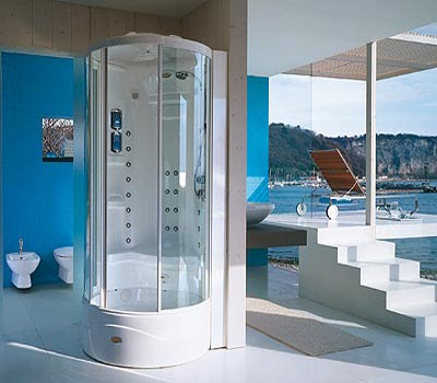Cabine de douche JACUZZI J-Dream 90x90x232cm diamètre 100cm ...