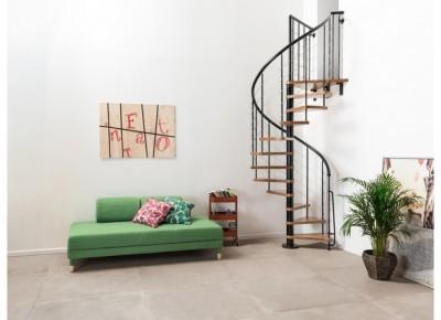 Escalier Symphonie gris bois clair diamètre 160cm hauteur 274cm FONTANOT