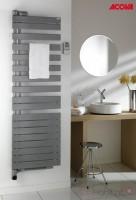 Radiateur sèche-serviettes électrique soufflant Twist Air blanc droite 750+1000W