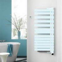 Sèche-serviettes électrique soufflant TWIST AIR blanc à gauche 750+1000W