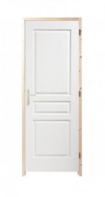 Bloc-porte postformé droite isothermique huisserie 88x56mm gauche poussant 204x73cm
