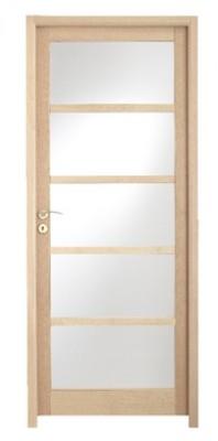 Bloc-porte LINEA hêtre vitrée dépoli droite 204x166cm