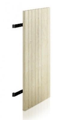 Volet clé méranti 1 vantail 28mm 138x54,5mm