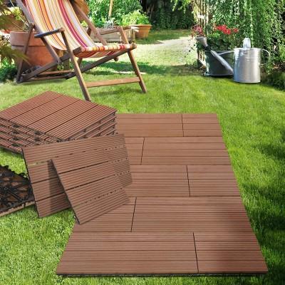 Dalle clipsable composite marron 30x60cm