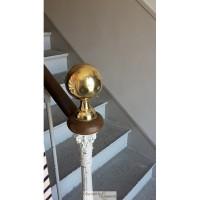 Boule laiton poli pour escalier 10x12