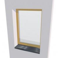 Appui de fenêtre LUMIERE aluminium gris 7016S 40x90cm