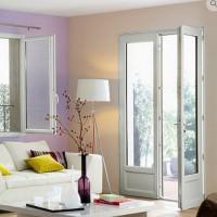 Porte-fenêtre CLASSIC hit PVC 215x120cm à cle