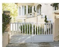 Vantail CAPRI blanc avec accessoires serrure 140x150cm