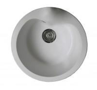Evier cuve ronde SMC blanc 51x51cm