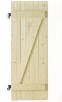 Volet sapin 10 1 vantail barres et écharpe posées 78x50cm gauche