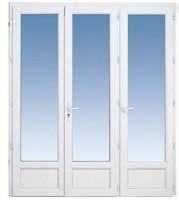 Porte-fenêtre CLASSIC hit PVC 3 vantaux 215x120cm à cle