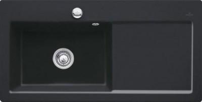 Evier SUBWAY ebony 1 bac 1VS égouttoir gauche 100x51cm