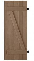 Volet MERANTI bois exotique posées (06) sur gond 218x70cm droite
