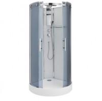 Cabine de douche intégrale FIDJI 1/4 cercle 90x90cm mécanique