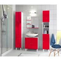 Colonne 1 porte rouge pure droite poussant largeur 30cm