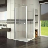 Porte pivotante SWING2 verre transparent chromé 78/81 hauteur 195cm