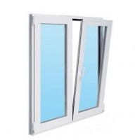 Fenêtre CLASSIC HIT PVC oscillo-battant blanc 125x120cm