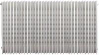 Radiateur LAMELLA blanc modèle 658 8 éléments 4 orifices 342W hauteur 800mm FINIMETAL