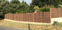Panneau de brande pour clôture épaisseur 8cm 1000x1250mm