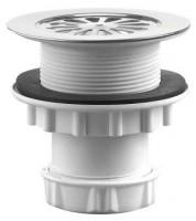 Bonde de douche plastique visser ou à coller pour verticale diamètre 60mm VALENTIN