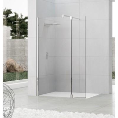 paroi de douche fixe largeur 97101cm verre srigraphi basic segment - Paroi De Douche Avec Retour Pivotant