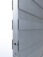 Châssis 100 plaque de plâtre intégral coffre plein + habillage bois 730x2040mm