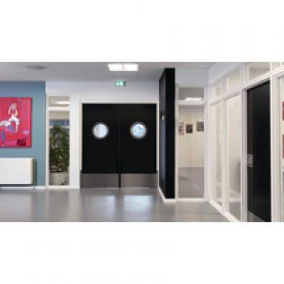 Bloc-porte EI60 coupe-feu 60 min huisserie prépeinte TECH+ 78mm blanc 204x83cm poussant droit JELD-WEN