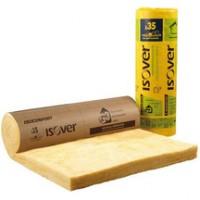 Panneau laine de verre ISOCONFORT 35 revêtu Kraft Isover épaisseur 220mm R = 6,25m².K/W 2,8x0,6m ISOVER