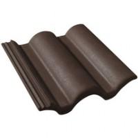Tuile béton Plein Ciel brun 420x330mm MONIER